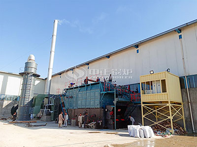 15tons SZL Series Coal-fired Chain Grate Steam Boiler in Afghanistan